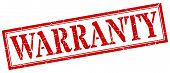Warranty Stamp. Warranty Square Grunge Sign. Warranty poster