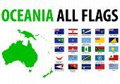 Oceania todas as bandeiras
