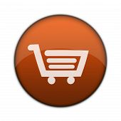 Glänzend Shopping Cart 3D Web Button