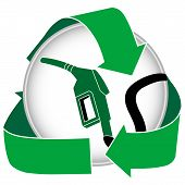 Green Gasoline Icon