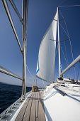 Yacht Sailing On Sea