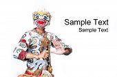 stock photo of hanuman  - Thai Cultural Show Hanuman  - JPG