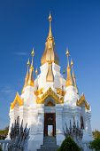 Golden Pagoda And Image Buddhal