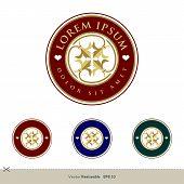 Circle Ornamental Flower Crest Emblem Logo Template Illustration Design. Vector Eps 10. poster