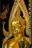 Beautiful Golden Buddha Statues At Wat Phra Si Rattana Mahathat Also Colloquially Referred To As Wat poster