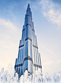 DUBAI, UAE - FEBRUARY 16: Burj Khalifa - world's tallest tower in the world at 828 m, located in Dow