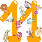 Number Eleven And 11 Toys