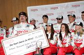 LOS ANGELES - APR 13:  Kim Coates & Racers at the Toyota Pro/Celeb Race Qualifying Day at Grand Prix