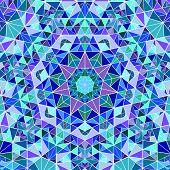 Geometrical Dynamic Radial Triangle Mosaic Background - Abstract Psychedelic Circular Vector Illustr poster