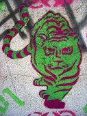 Tiger Grafitti Stencil