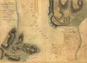 Map Of The Surprise Of Stoney Point, 1779,