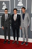 LOS ANGELES - FEB 10:  Jack Antonoff; Nate Ruess; Andrew Dost. arrive at the 55th Annual Grammy Awar