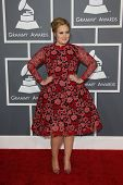 LOS ANGELES - FEB 10:  Adele arrives at the 55th Annual Grammy Awards at the Staples Center on Febru