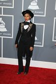 LOS ANGELES - FEB 10:  Janelle Monae arrives at the 55th Annual Grammy Awards at the Staples Center on February 10, 2013 in Los Angeles, CA