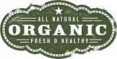 Fresh and Healthy Organic Stamp