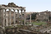 Forum Romanum With Temple Of Saturn