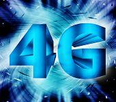 4 g Netzwerk-symbol