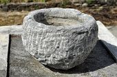 Motar Stone Bowl Object Outdoor