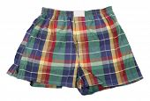 Colorful plaid boxer shorts