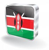 3D Kenia Kennzeichnungssymbol Vektor