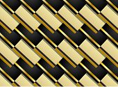 Pattern Background In Black And Gold