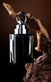 Zwarte parfumfles