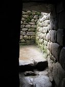 stock photo of old spanish trail  - Ancient ruins of Machu Picchu located near Cusco Peru - JPG