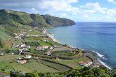 Azores Santa Maria Praia Formosa - rocky coastline beach with white sand