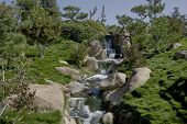 Garden Waterfall And Stream