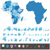 stock photo of cartographer  - Political map of Africa  - JPG