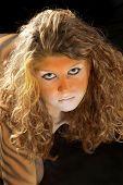 Lebendigem Tiger Mädchen Portrait