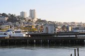 foto of u-boat  - View of San Francisco from the pier 39 San Francisco California U - JPG