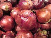 Sweet Purple Onion Pattern Background