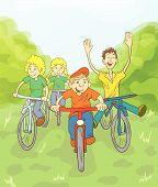 4_children Ride Bike