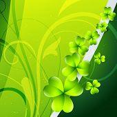 fundo de dia de São Patrício de folha de trevo verde bonito