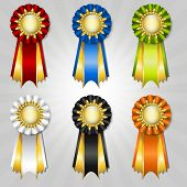 Set Of Vecor Prize Ribbons