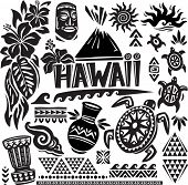 stock photo of tiki  - Hawaii Set - JPG