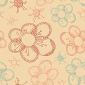 stylized flower seamless texture