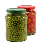 Natural Pease Tomatoes Vegetable Canned Glass Pot