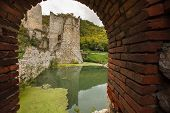 pic of serbia  - Medieval fortress on Danube river in Golubac - JPG