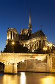 Notre Dame Cathedral, Paris, Ile De France, France
