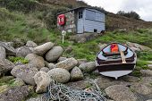 Fishermans Hut And Boat