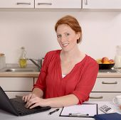 stock photo of independent woman  - Pretty red - JPG