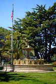 Sausilito Fountain And Flag