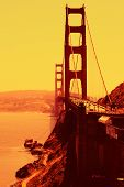 Stylised Golden Gate