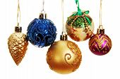 Several Colored Christmas Balls.