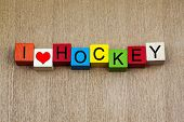 I Love Hockey - Sign