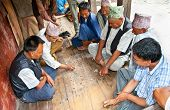 BHAKTAPUR-MAY 20:Unidentified men playing traditional game on May 20,2013 in Bhaktapur, Nepal.Games