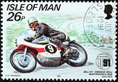 Motorcycle Race Stamp #1