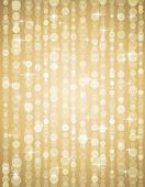 image of backround  - golden brightnes illustration suitable for christmas or disco backround vector illustration - JPG